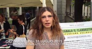 """VIDEO / Intervista durante la Campagna """"Segnala il clandestino"""" a Orzinuovi"""