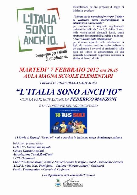 LOCANDINA L'ITALIA SONO ANCH'IO