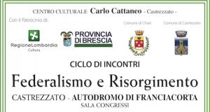 """""""FEDERALISMO E RISORGIMENTO"""" COL PATROCINIO DI REGIONE LOMBARDIA"""